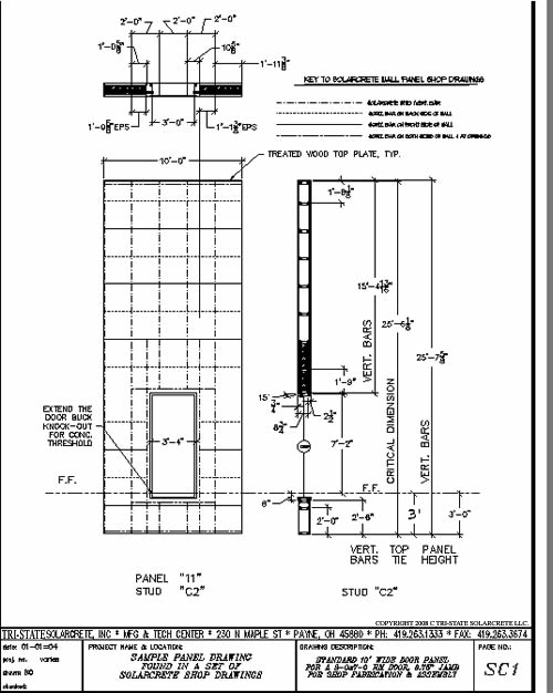 Picture of sample shop drawing of a door panel
