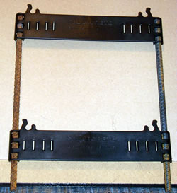 2 composite wall ties with rebar photo
